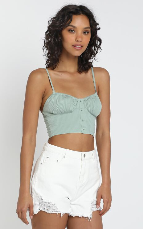 Shelly Top in Khaki