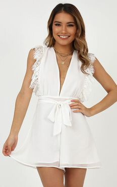 Street Cool Playsuit In White