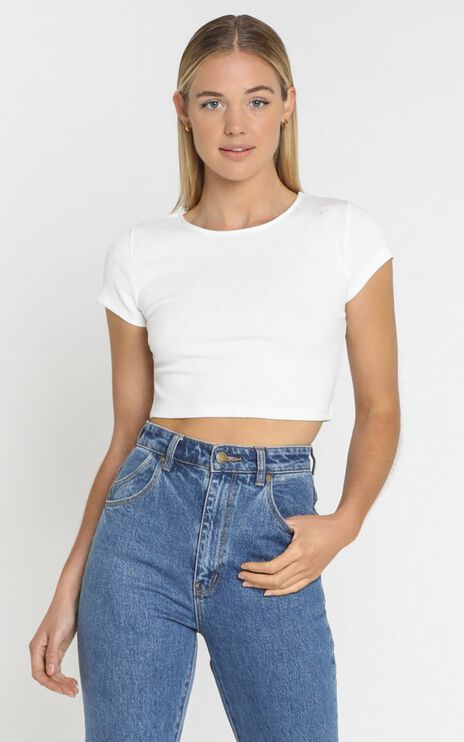 Quick Confessions Crop Tee in White