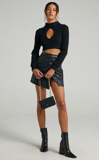 Shani Skirt in Black Leatherette