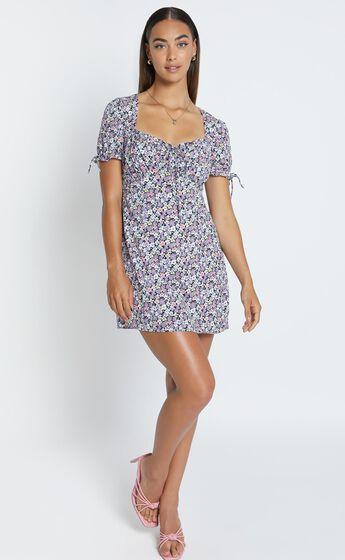 Felicity Dress in Purple Floral