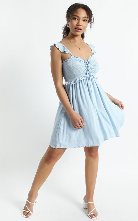 Rissa Dress in Blue