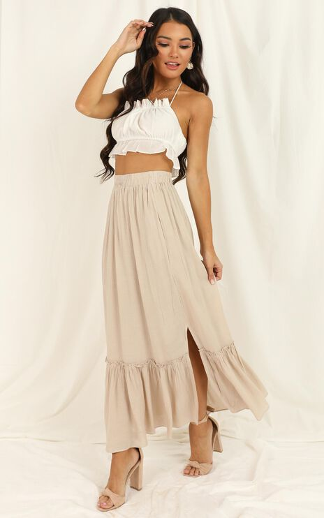 What A Vision Skirt In Mocha