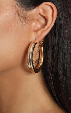 Halo Hoop Earrings In Gold