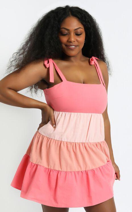 Limone Dress in Multi Linen Look