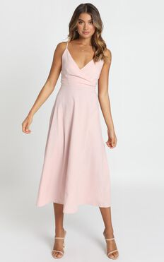 Mustering The Confidence Dress In Blush Pink