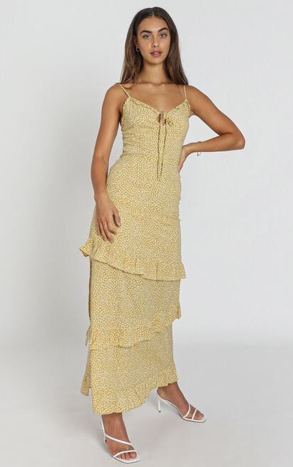 Twiggy Dress in mustard - 8 (S), Mustard, hi-res image number null