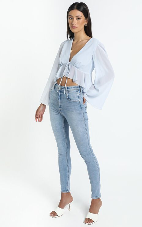 Dance It Out Top in Sky Blue