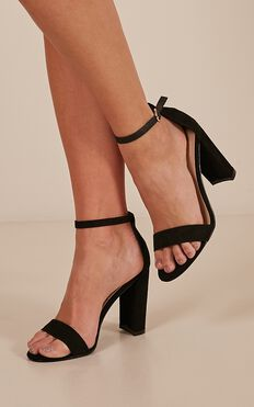Billini - Jessa Heels In Black Micro