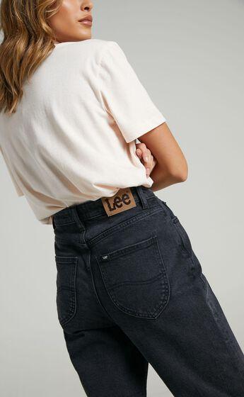 Lee - High Mom Jeans in Bias Black