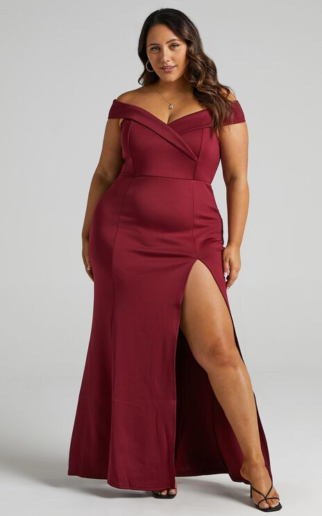 One For The Money Dress in Wine