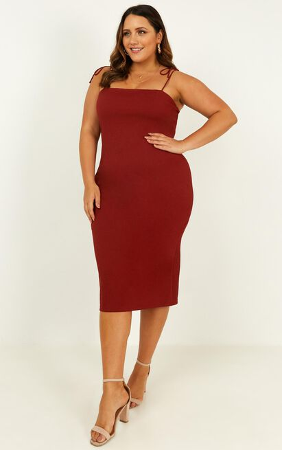 Keeping It Close Dress In rust - 20 (XXXXL), Rust, hi-res image number null