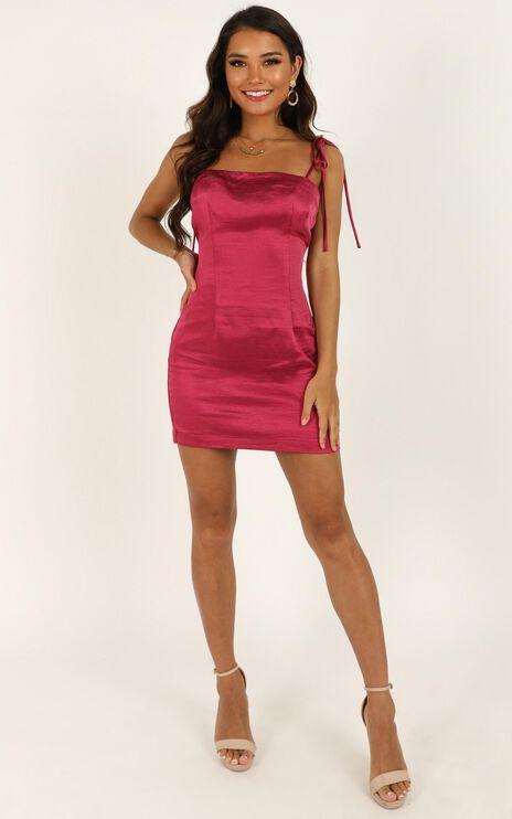 I Feel Pretty Dress In Berry Satin