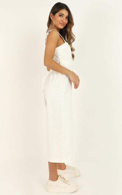 Fire On Fire denim jumpsuit In white - 14 (XL), White, hi-res image number null