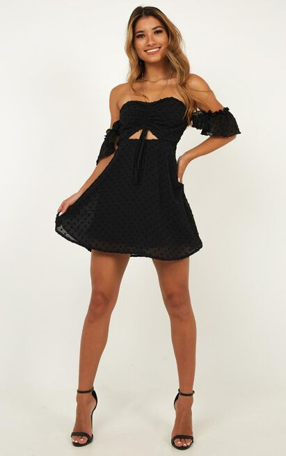 Take Flight Dress In Black - 4 (XXS), Black, hi-res image number null