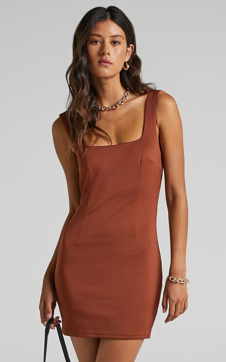 A Whole Lot Of Love Dress in Brown