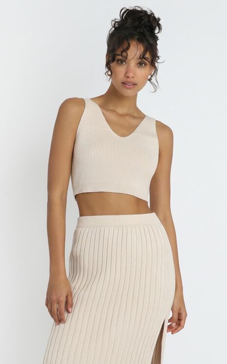 Yana Knit Top in Beige