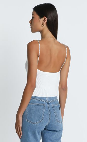 Pearl Top in White
