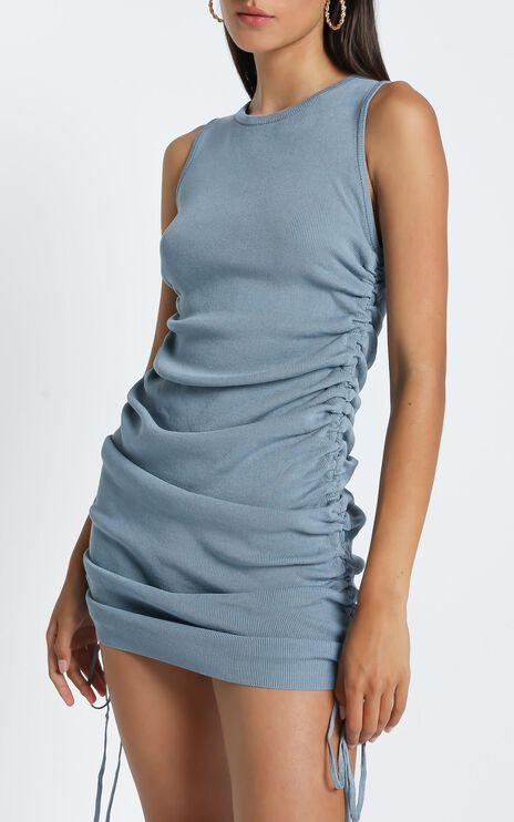Lioness - Military Minds Dress in Dusty Blue