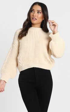 Game Of Love Knit Jumper In Cream