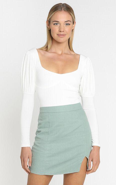 Adana Bodysuit in White