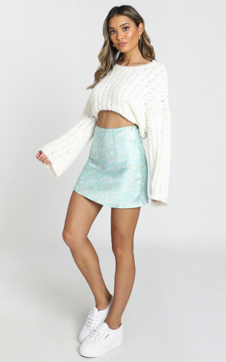 Brave And Bold Skirt In Blue Print
