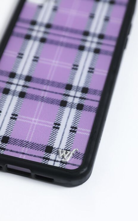 Wildflower - Iphone Case in Lavender Plaid