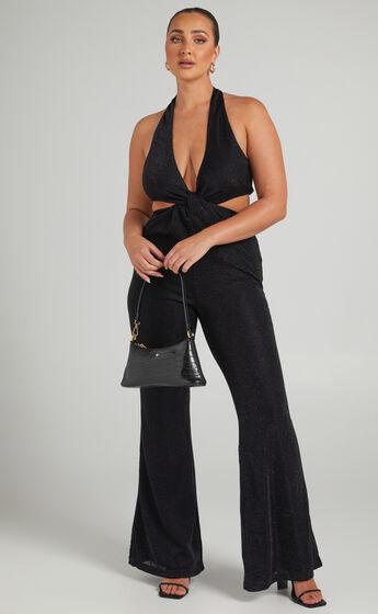 Ivania Twist Knot Jumpsuit in Black