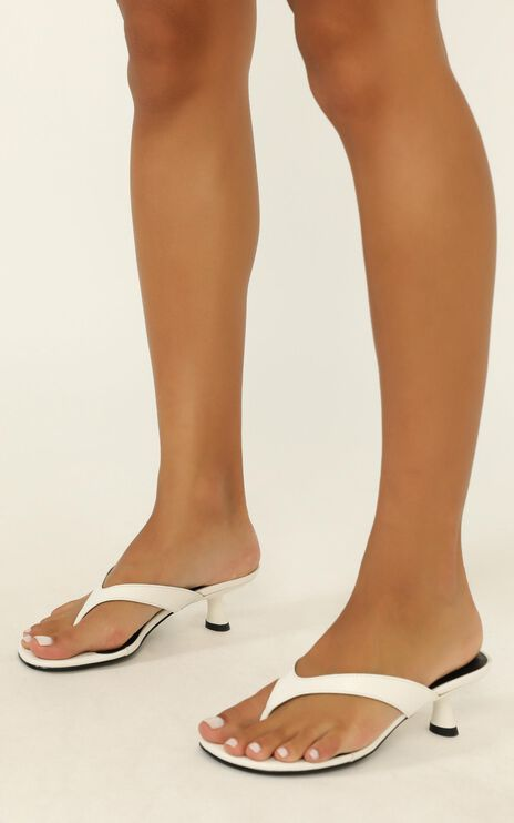 Therapy - Mici Heels In White Croc