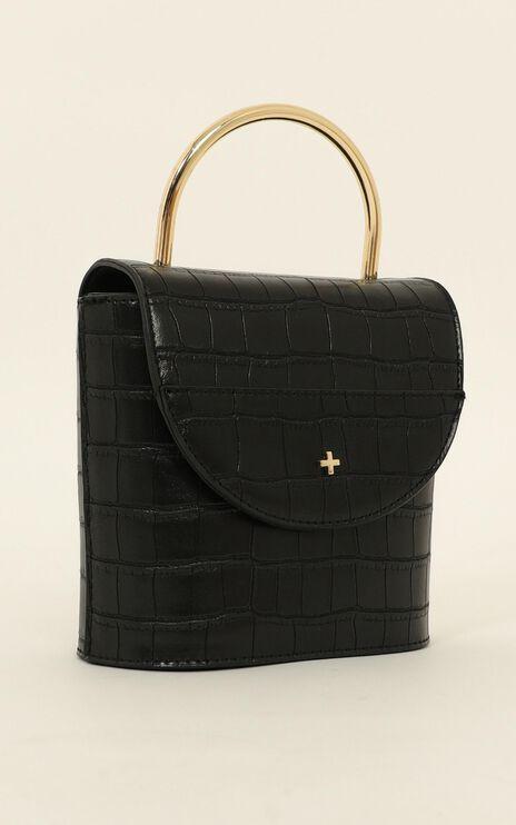 Peta And Jain - CeeCee Bag In  Black Croc