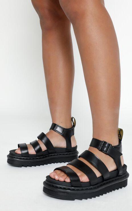 Dr. Martens - Blaire Chunky 3 Strap Sandal in Black Brando