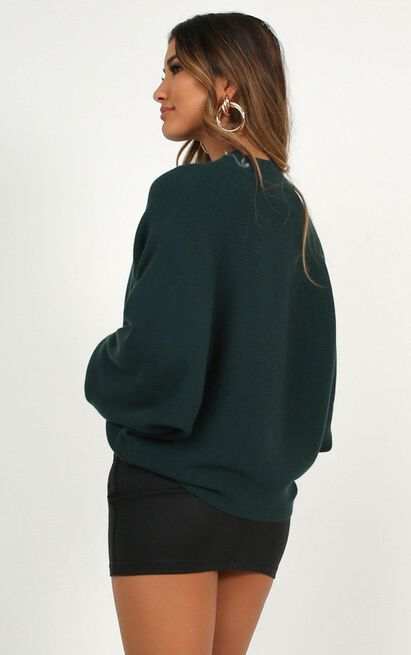 Upon The North knit sweater in emerald green - 6 (XS), Green, hi-res image number null