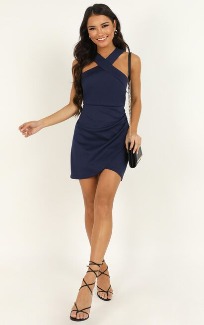 Beauty And A Beat Dress in navy - 20 (XXXXL), Navy, hi-res image number null