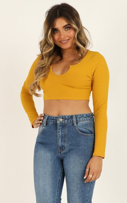 Its Personal Top in mustard - 20 (XXXXL), Mustard, hi-res image number null