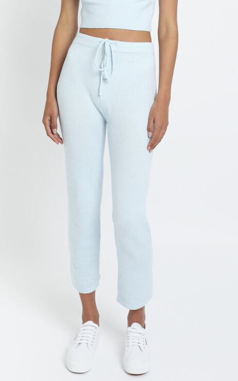 Aleesha Knit Pants in Blue