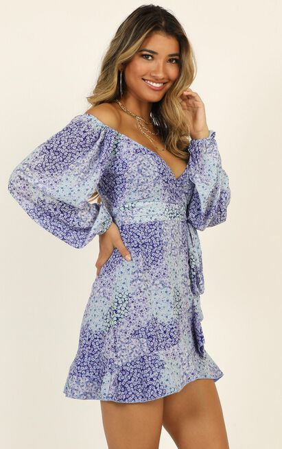 Your Sugar and Spice dress in blue floral - 14 (XL), Blue, hi-res image number null
