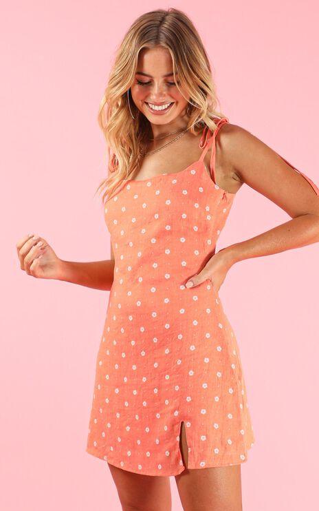 Italian Sunrise Dress In Apricot
