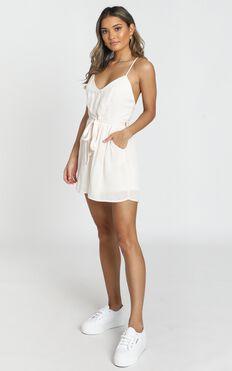 Martini Playsuit In Cream