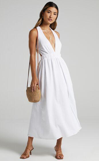 Naenia Dress in White