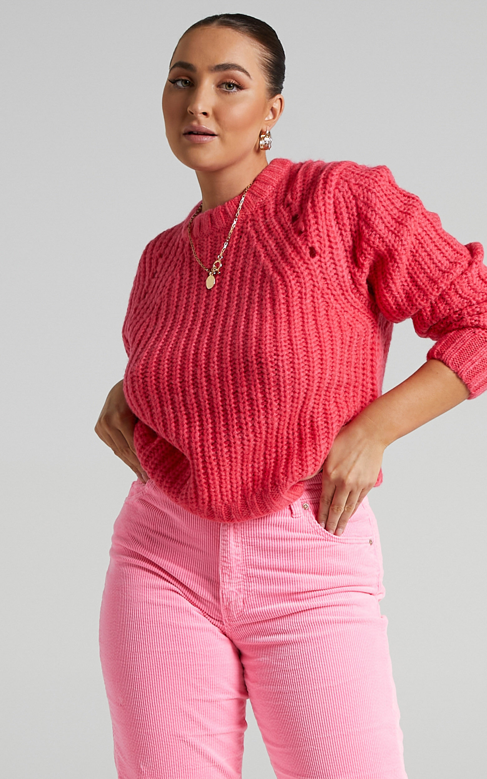 Rollas - Captain Sweater in Pink Cordial - 06, PNK1, super-hi-res image number null