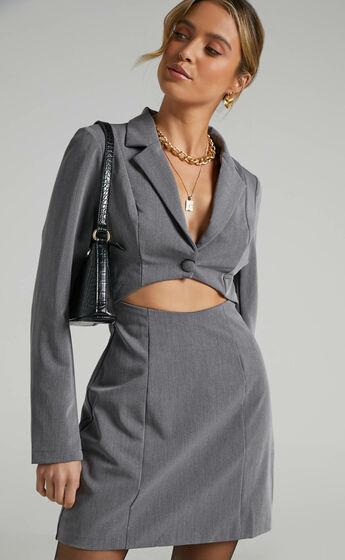 Aviva Dress in Grey