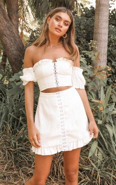 Carry All Your feelings Two Piece Set In White