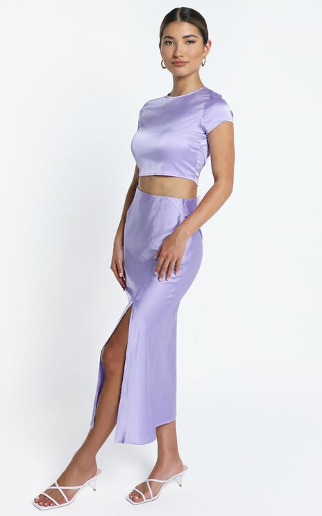 Elanora Two Piece set in Lilac