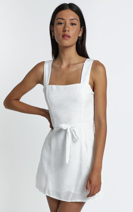 Ronan Dress in White Palm