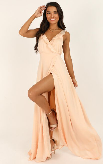 Losing My Edge Dress in peach satin - 20 (XXXXL), Blush, hi-res image number null