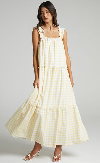 Charlie Holiday - Lottie Dress in Yellow Gingham
