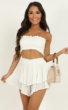 Adore You Two Piece Set In White