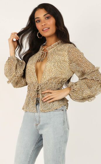 Know Your Power Top In Leopard Print
