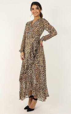 Trust In You Dress In Leopard Print
