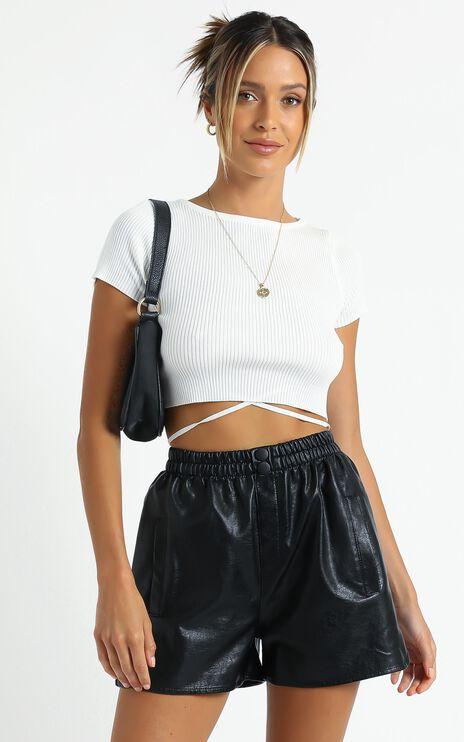 Alceria Shorts in Black Leatherette